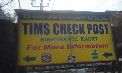 Timms card is the permit of the Ghorepani poon hill trekking. Birethathi is the Timms card checking point in Poon hill trek Nepal