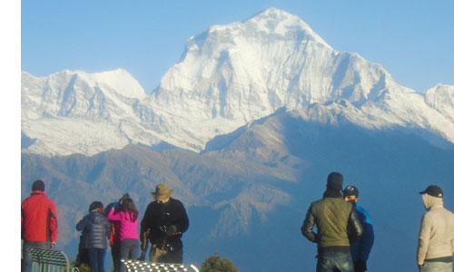 Views of the Dhaulagiri from Poon hill view point Ghorepani