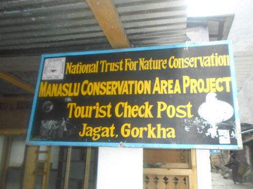 Manaslu trek permit check post