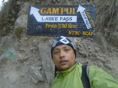 Naba Thapa, The best trekking guide of the manaslu trek Nepal