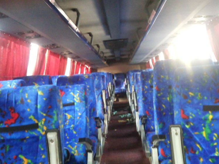 Seat of the Delhi bus which is daily running from Kathmandu