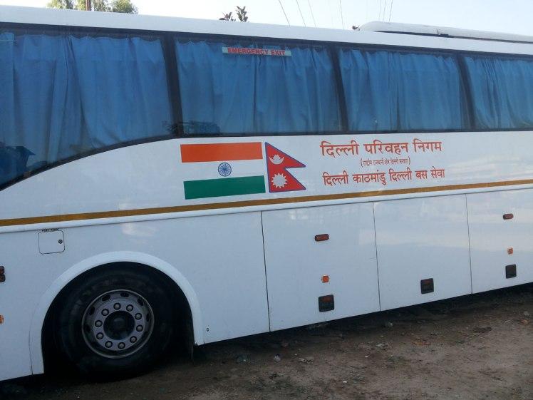 DTC Volvo bus for Kathmandu Delhi kathmandu tour