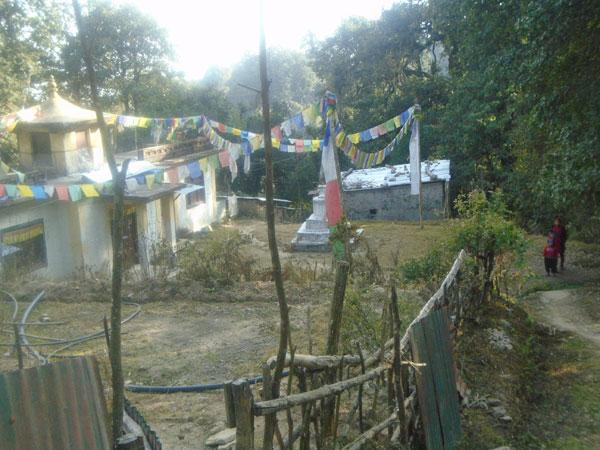Bagdwar monastery in Bagdwar Shivapuri hills