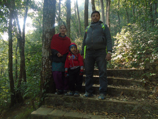 Hiking with family in Nagarjuna