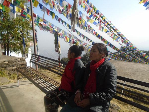 At the top of the Nagarjuna hills