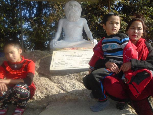 Shivapuri Baba in Shivapuri hills, Shivapruri hills with Shivpapuri Bbaba