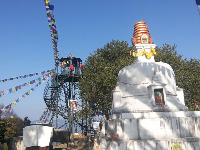Top of Nagarjuna,Pinnacle broken by earthquake